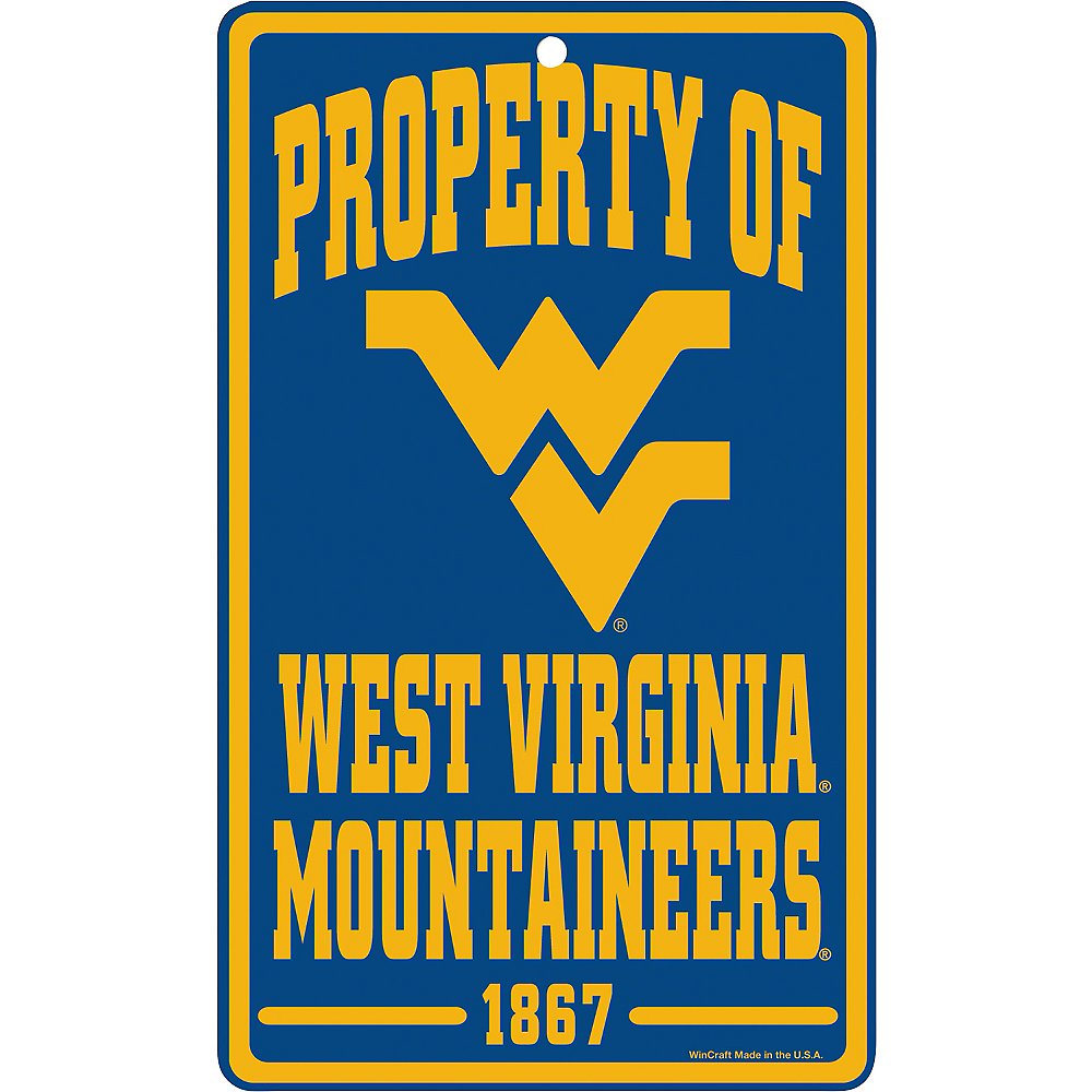 Property of West Virginia Mountaineers Sign Image #1