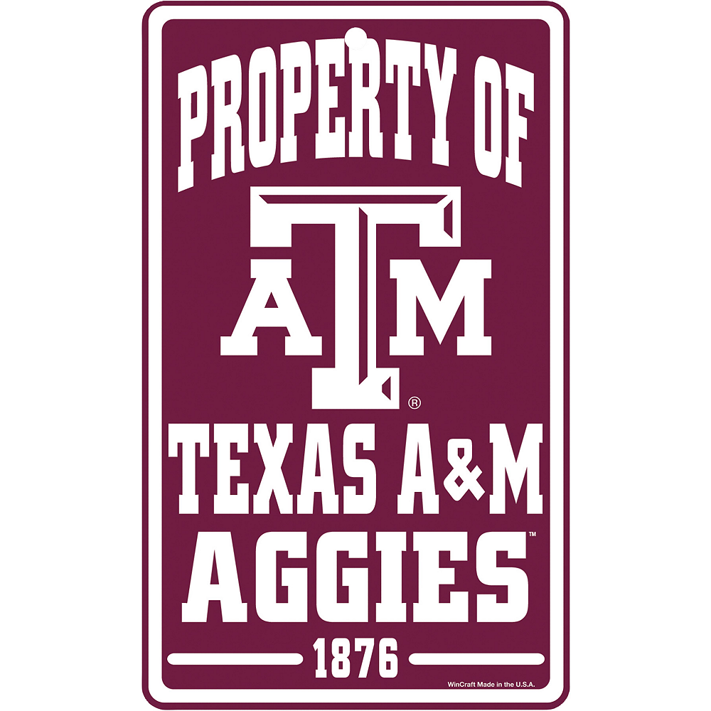 Property of Texas A&M Aggies Sign Image #1