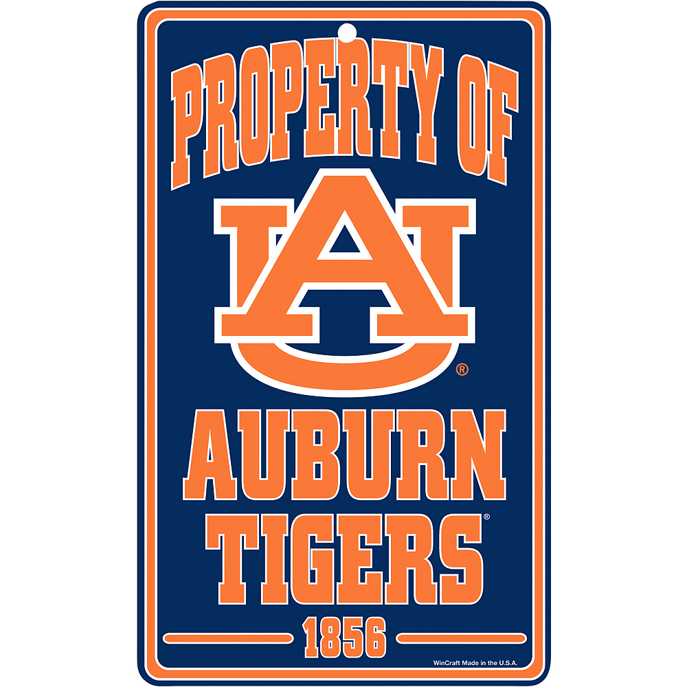 Property of Auburn Tigers Sign Image #1