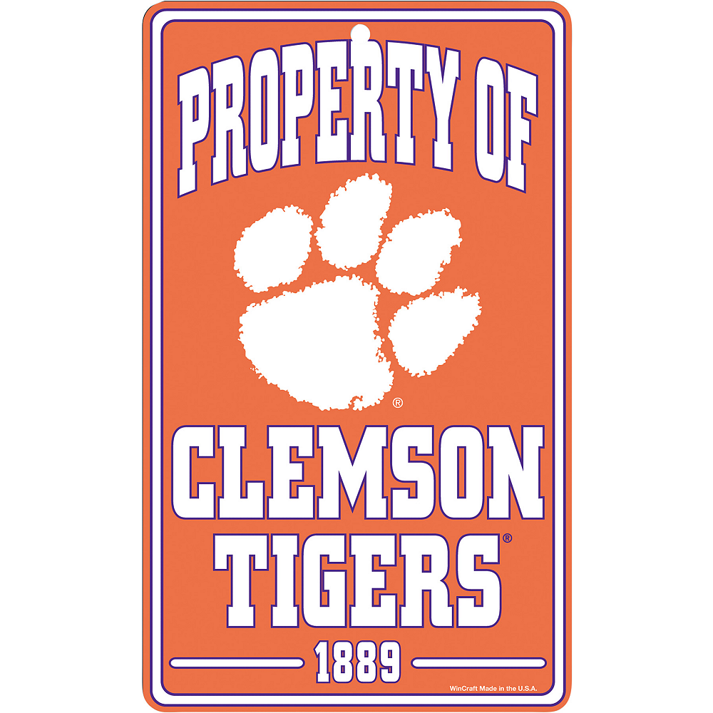 Property of Clemson Tigers Sign Image #1