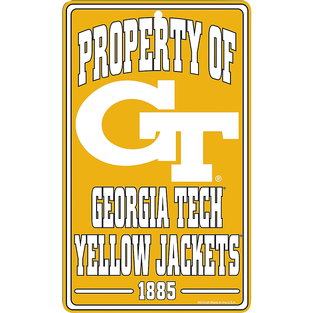 Property of Georgia Tech Yellow Jackets Sign Image #1