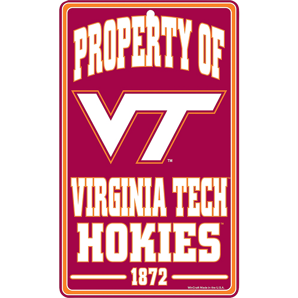 Property of Virginia Tech Hokies Sign Image #1