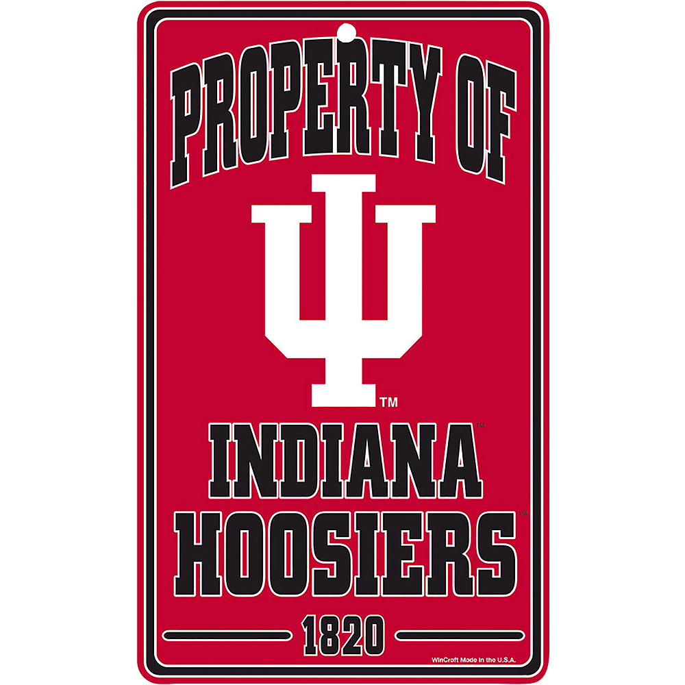 Property of Indiana Hoosiers Sign Image #1