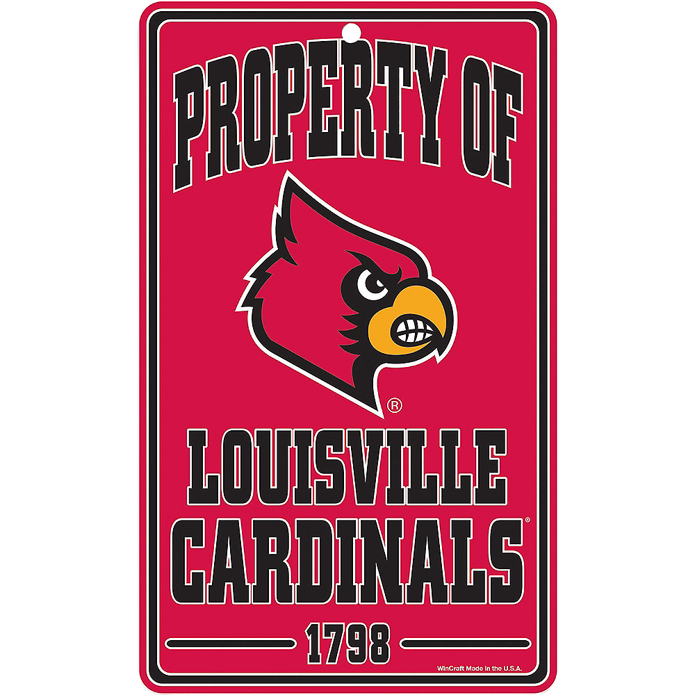 Property of Louisville Cardinals Sign Image #1