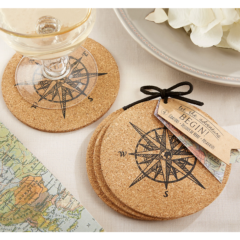 Vintage Compass Coasters Image #1