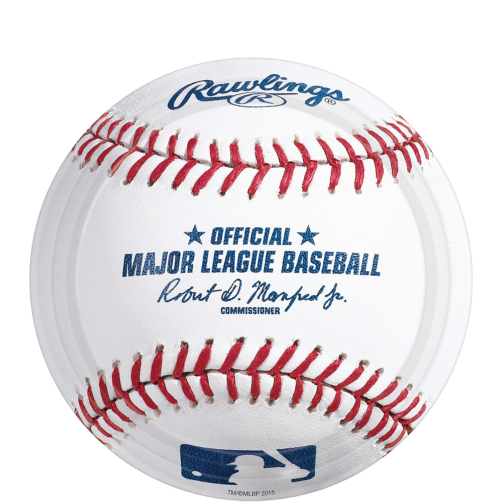 Nav Item for Rawlings Baseball Dessert Plates 8ct Image #1