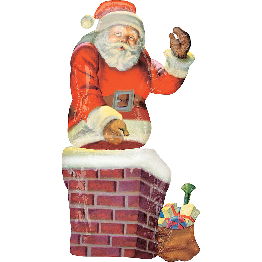 Christmas Balloon - Giant Santa Chimney Image #1