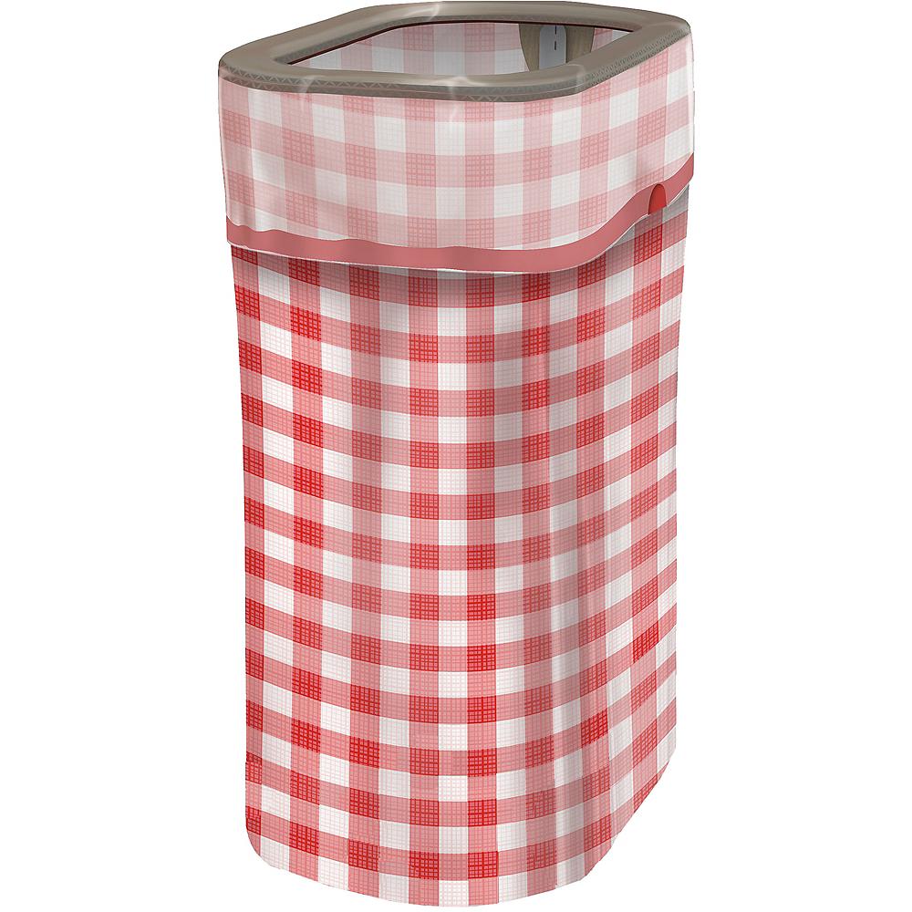 Gingham Pop-Up Trash Bin Image #1