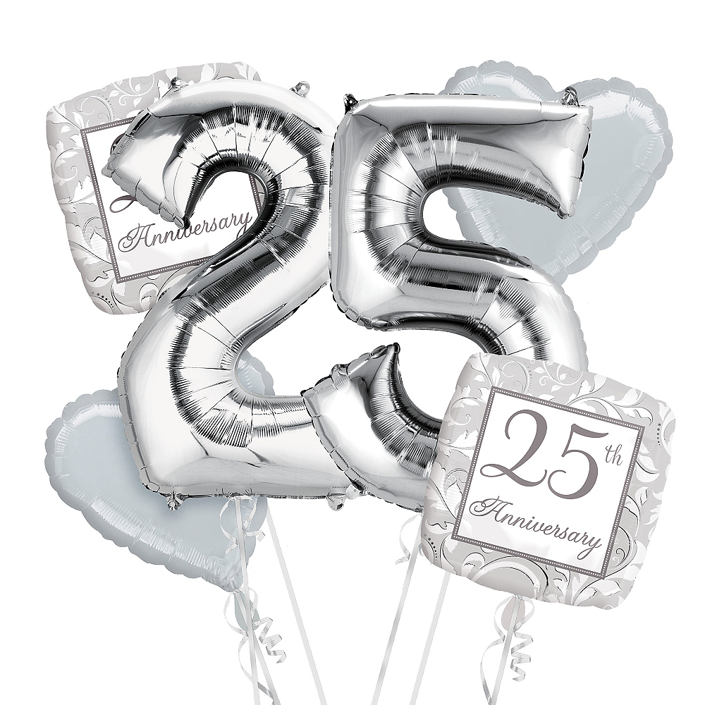 25th Anniversary Balloon Bouquet No 25 Image #1