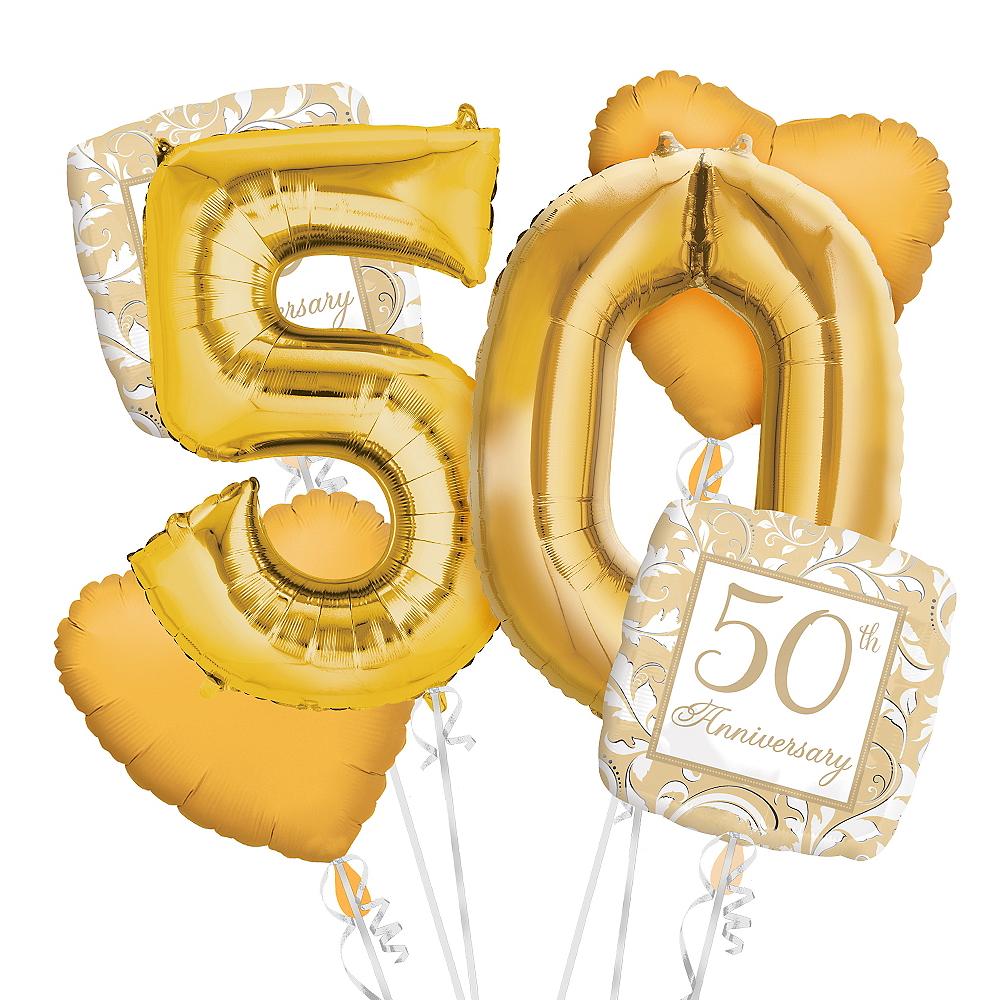 50th Anniversary Balloon Bouquet No 50 Image #1