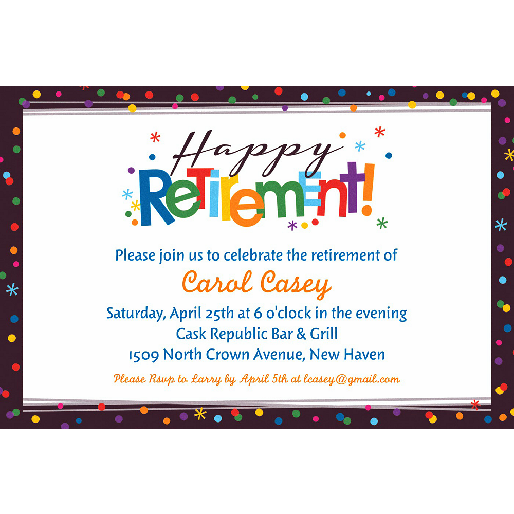 Custom Happy Retirement Celebration Invitation Happy Retirement