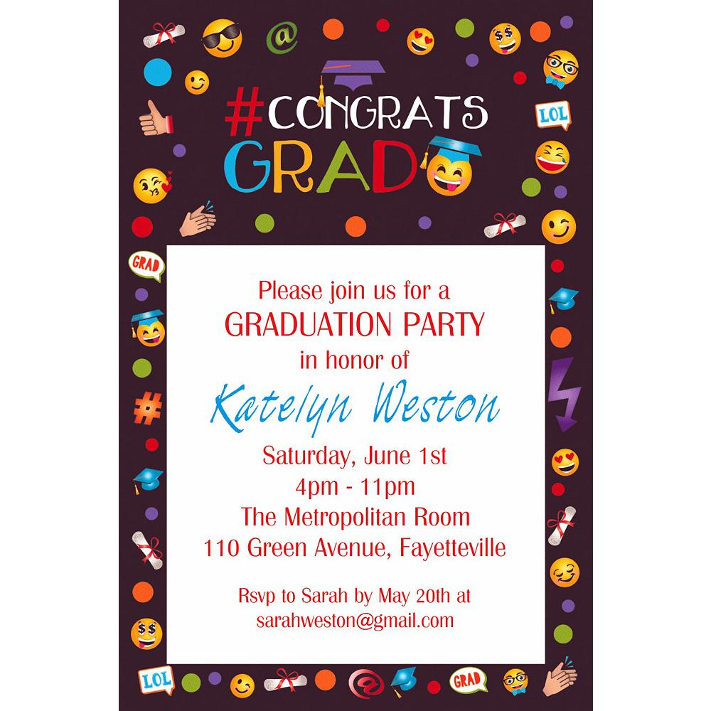 Custom Smiley Graduation Invitation  Image #1