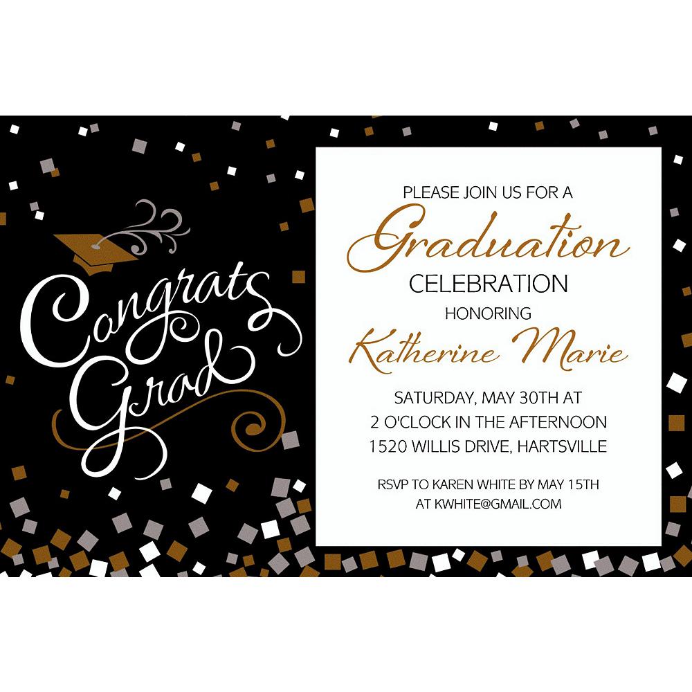 Custom Congrats Graduation Invitation  Image #1