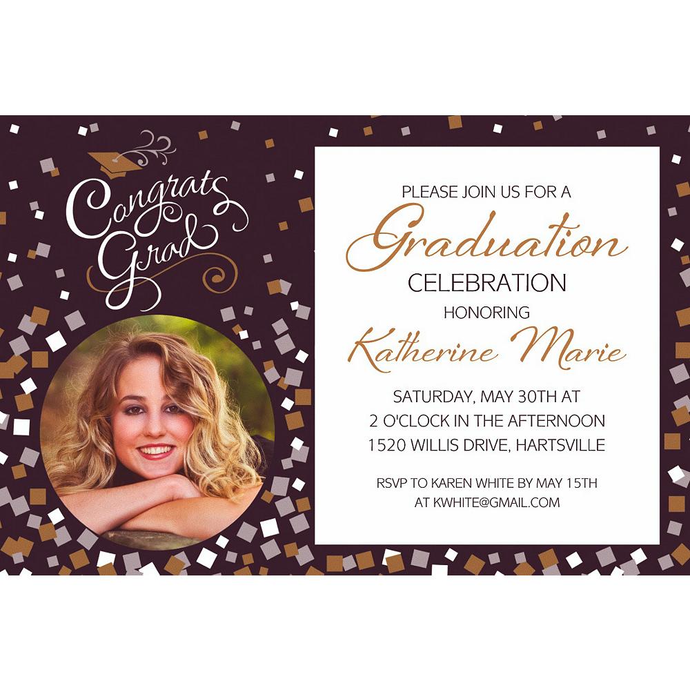 Custom Congrats Graduation Photo Invitation  Image #1