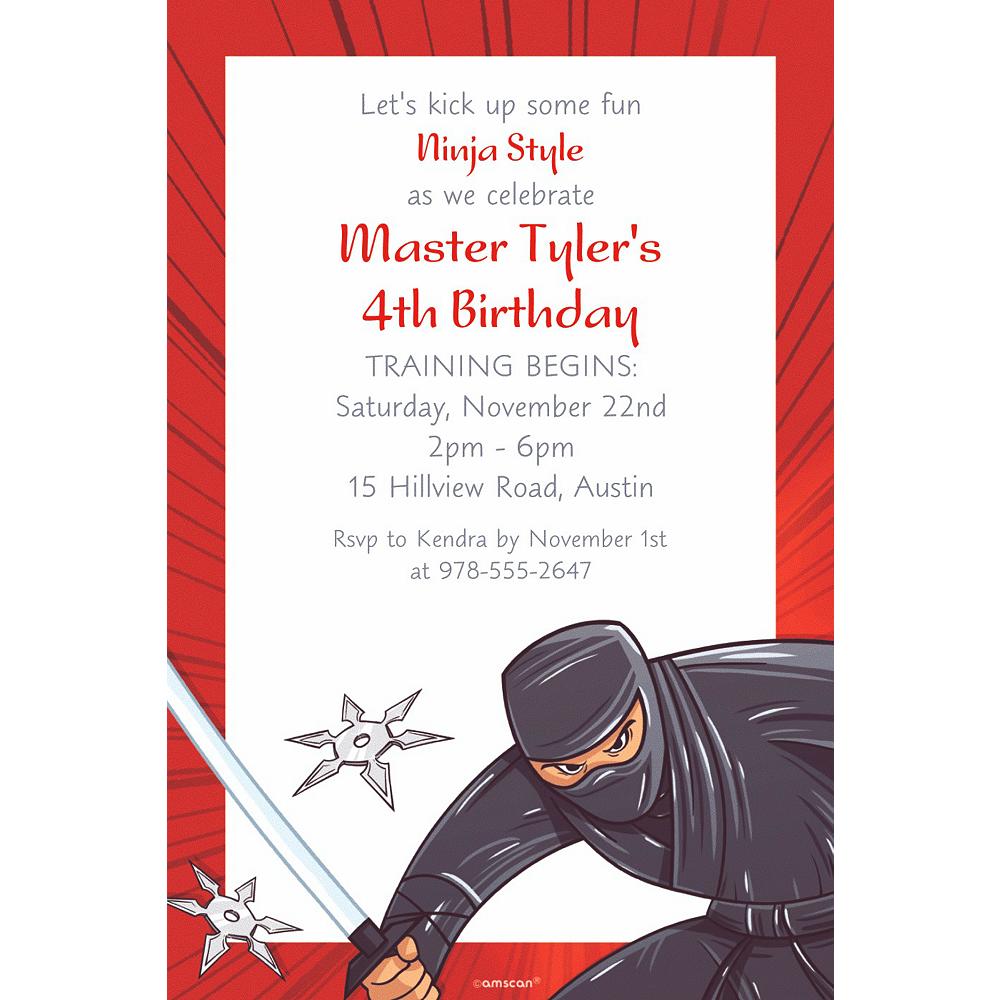 Custom Ninja Invitation | Party Supplies | Party City