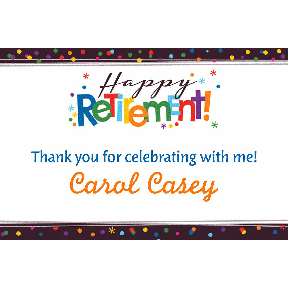 Custom Happy Retirement Celebration Thank You Note Image #1