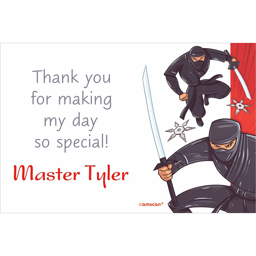 Custom Ninja Thank You Note Image #1
