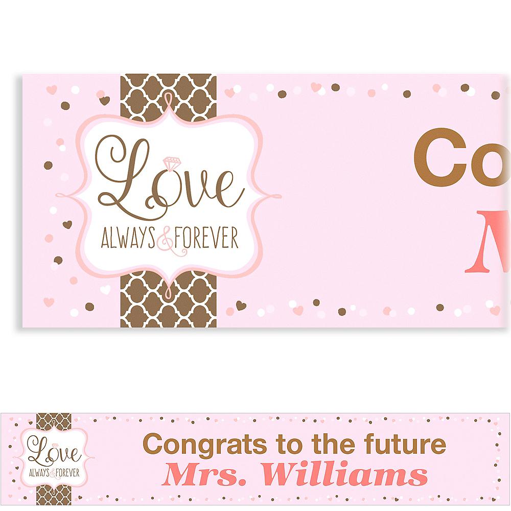 Custom Pink & Brown Wedding Banner Image #1