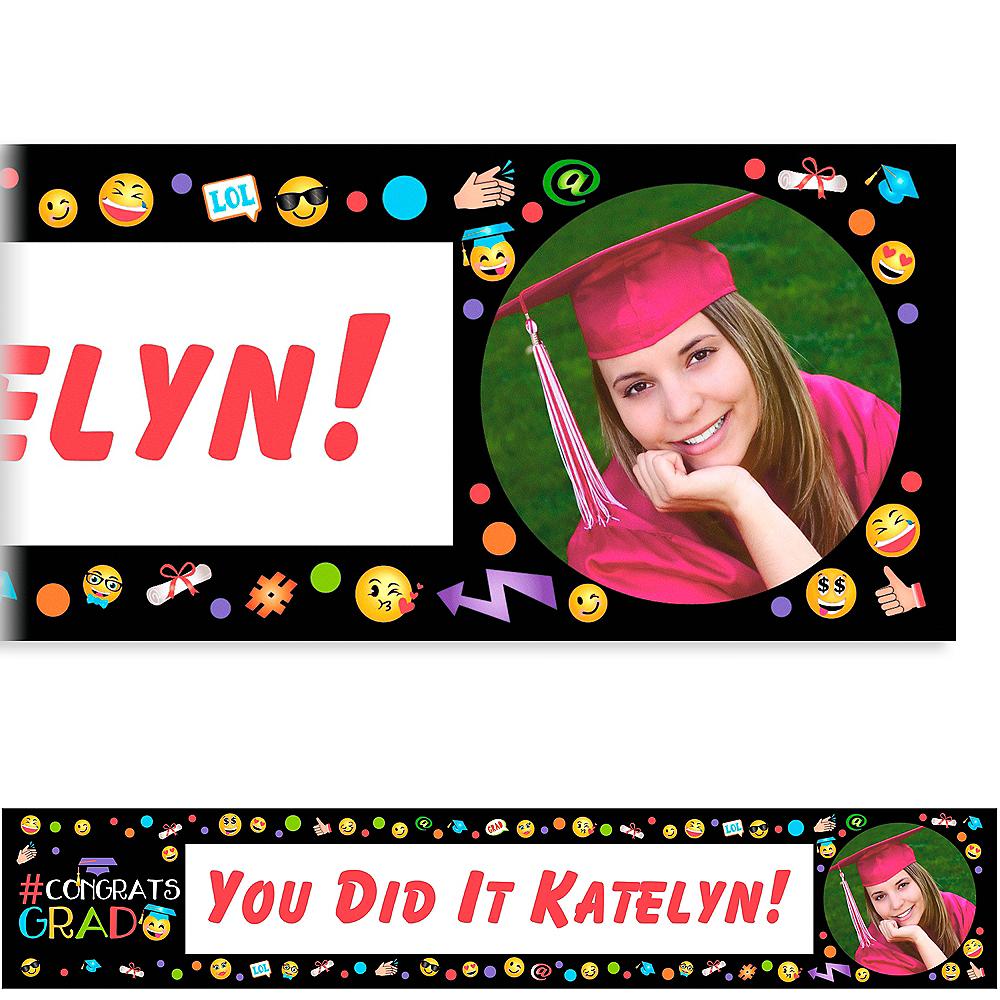 Custom Smiley Graduation Photo Banner  Image #1