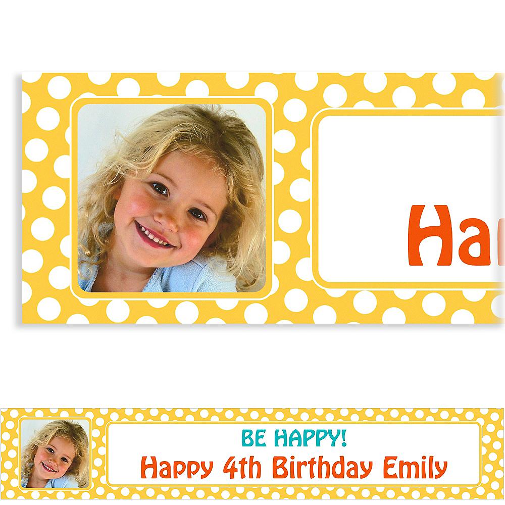 Custom Yellow Birthday Photo Banner Image #1