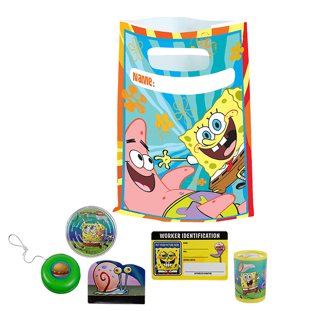 Sponge Bob Basic Favor Kit for 8 Guests Image #1