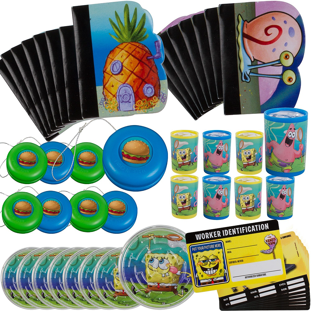 Nav Item for Sponge Bob Basic Favor Kit for 8 Guests Image #3