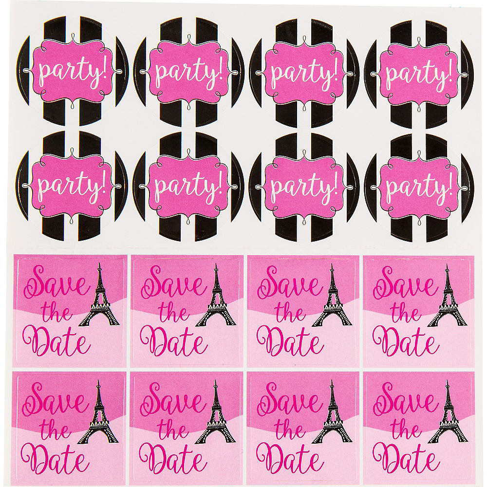 Glitter Paris Invitations 8ct Image #3
