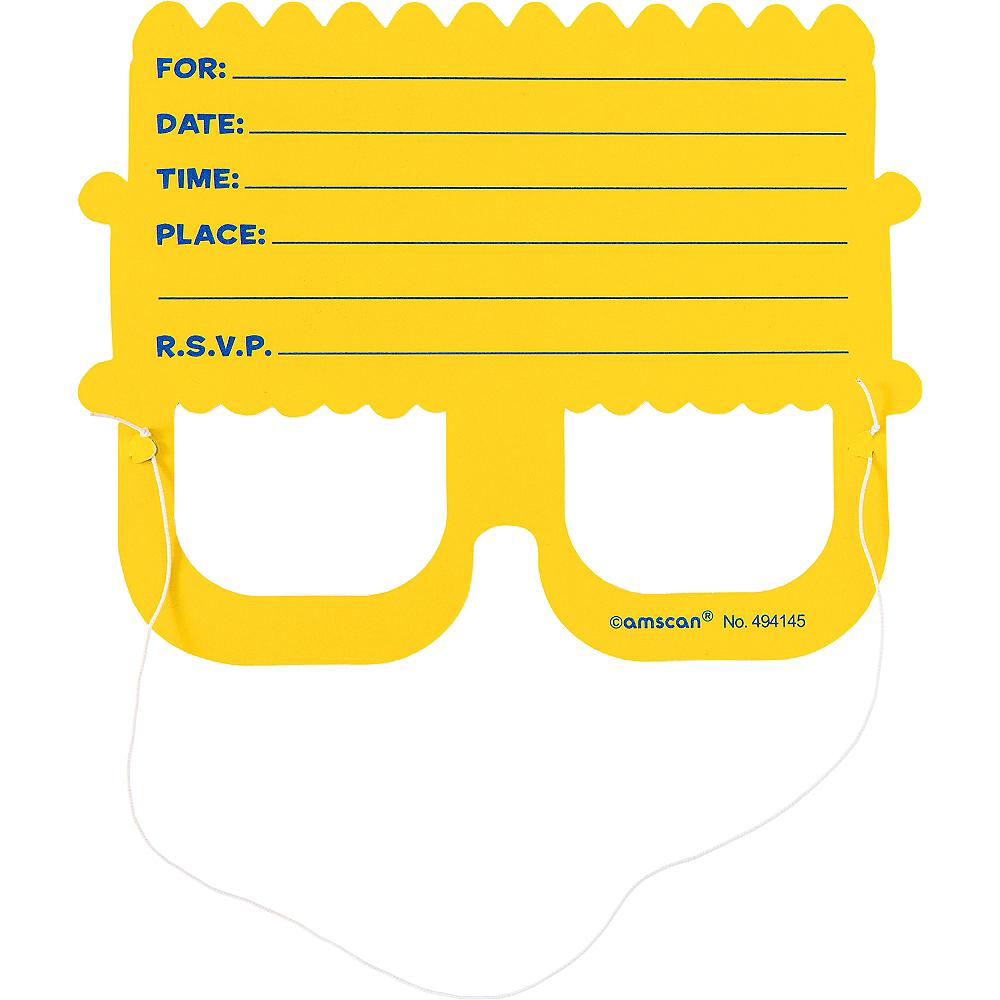 Prismatic Cake Glasses Invitations 8ct Image #2