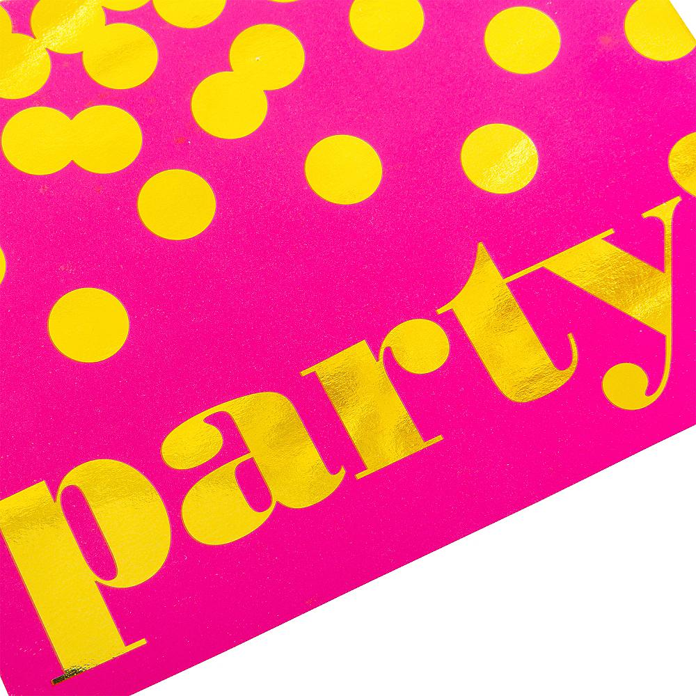 Metallic Dots Pink Invitations 8ct Image #4