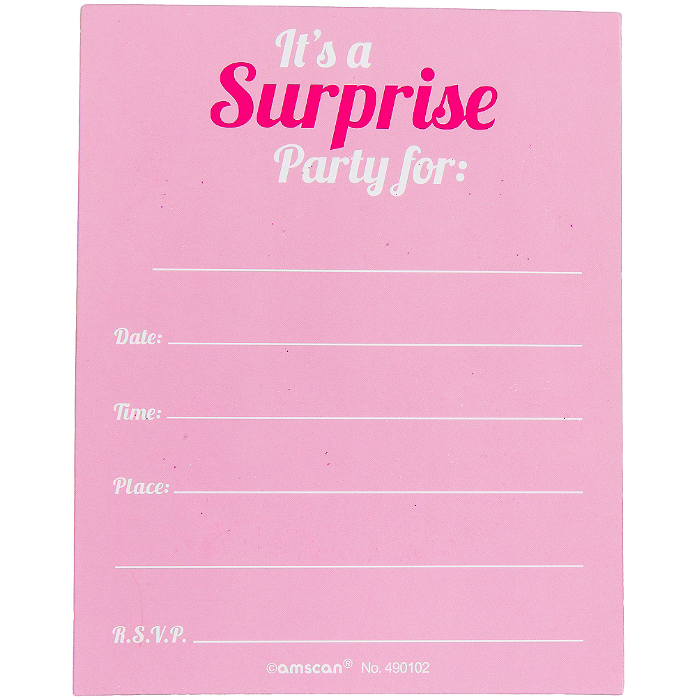 Glitter Lips Sealed Surprise Party Invitations 8ct Image #3