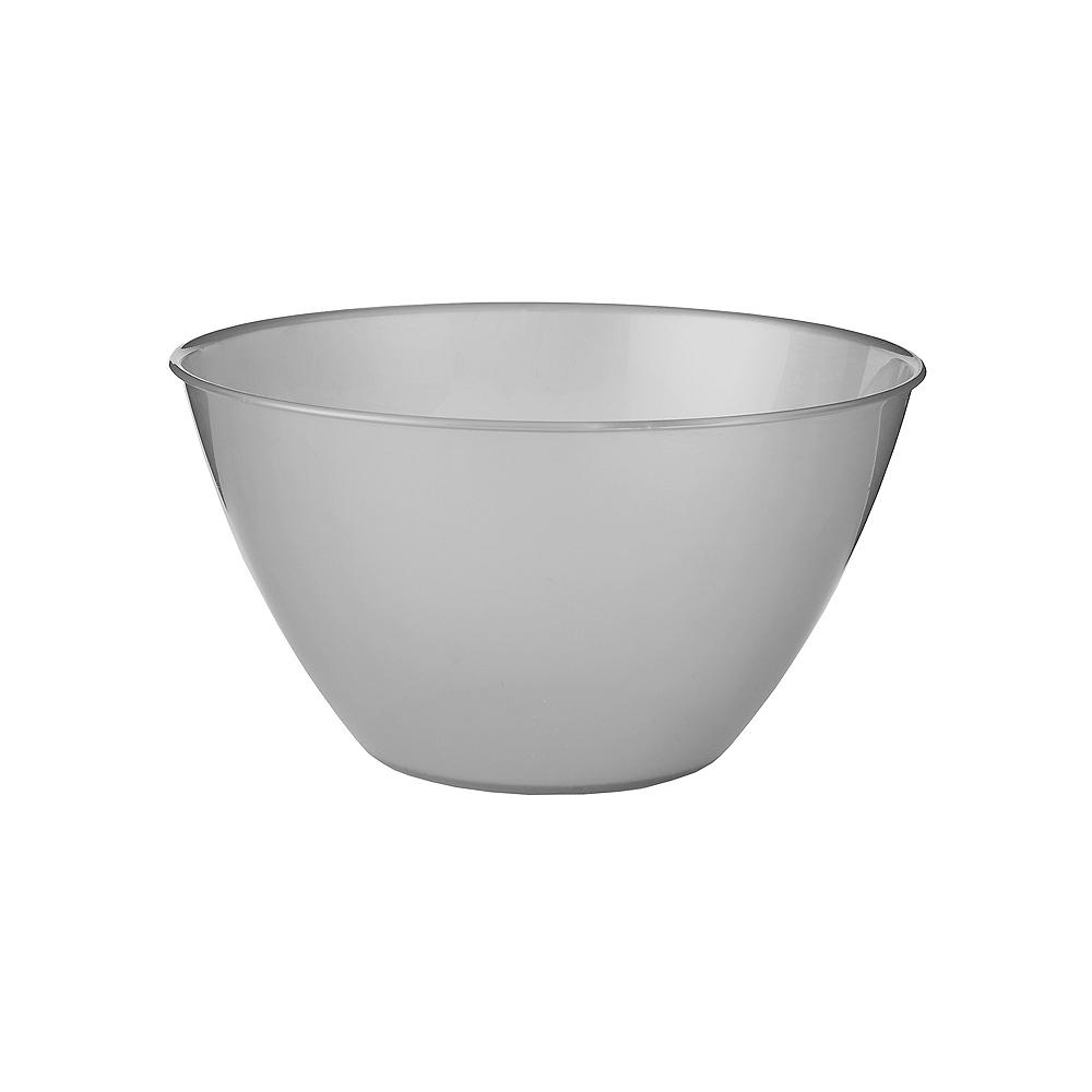Small Silver Plastic Bowl Image #1