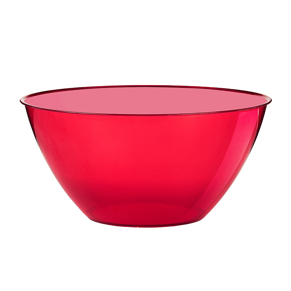 Nav Item for Medium Red Plastic Bowl Image #1