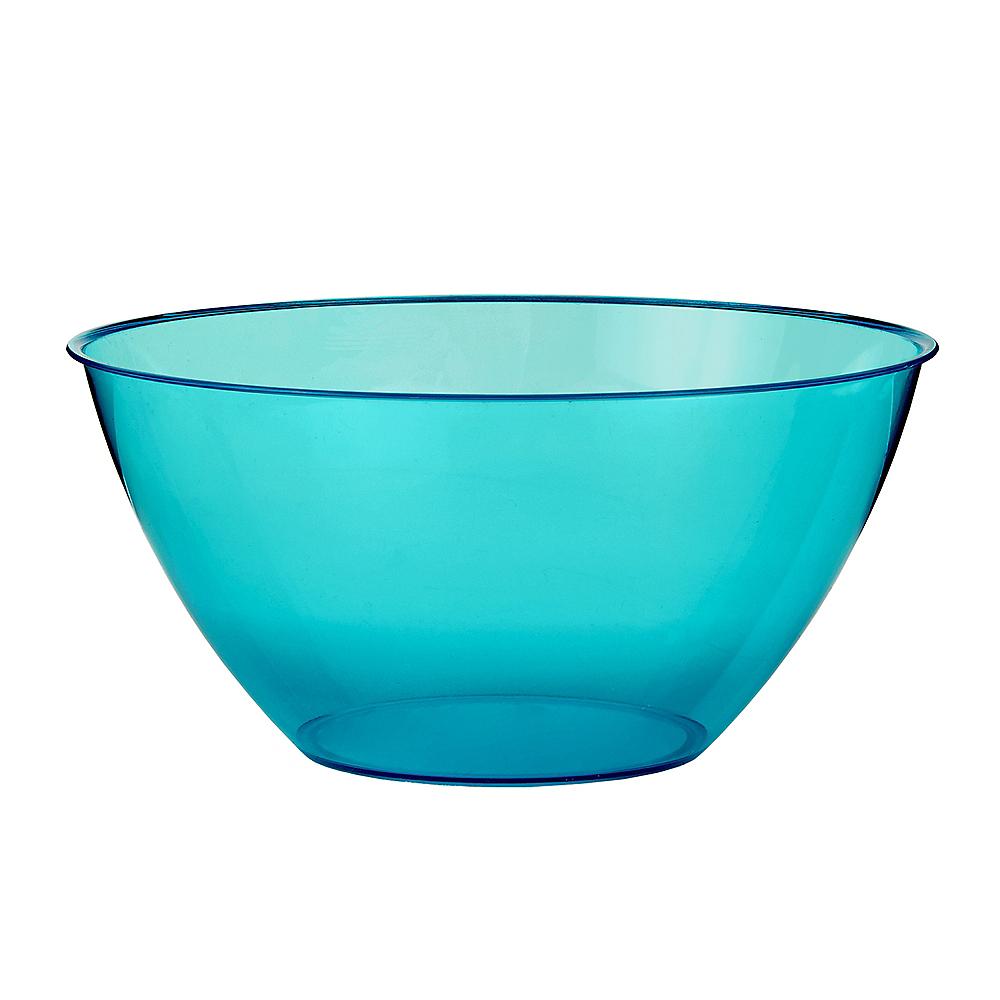 Medium Caribbean Blue Plastic Bowl Image #1