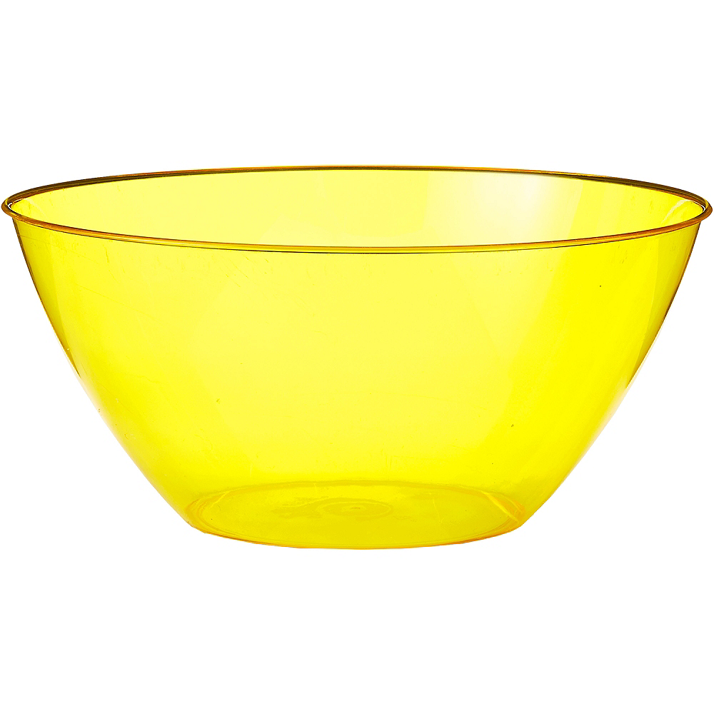 Large Yellow Plastic Bowl Image #1