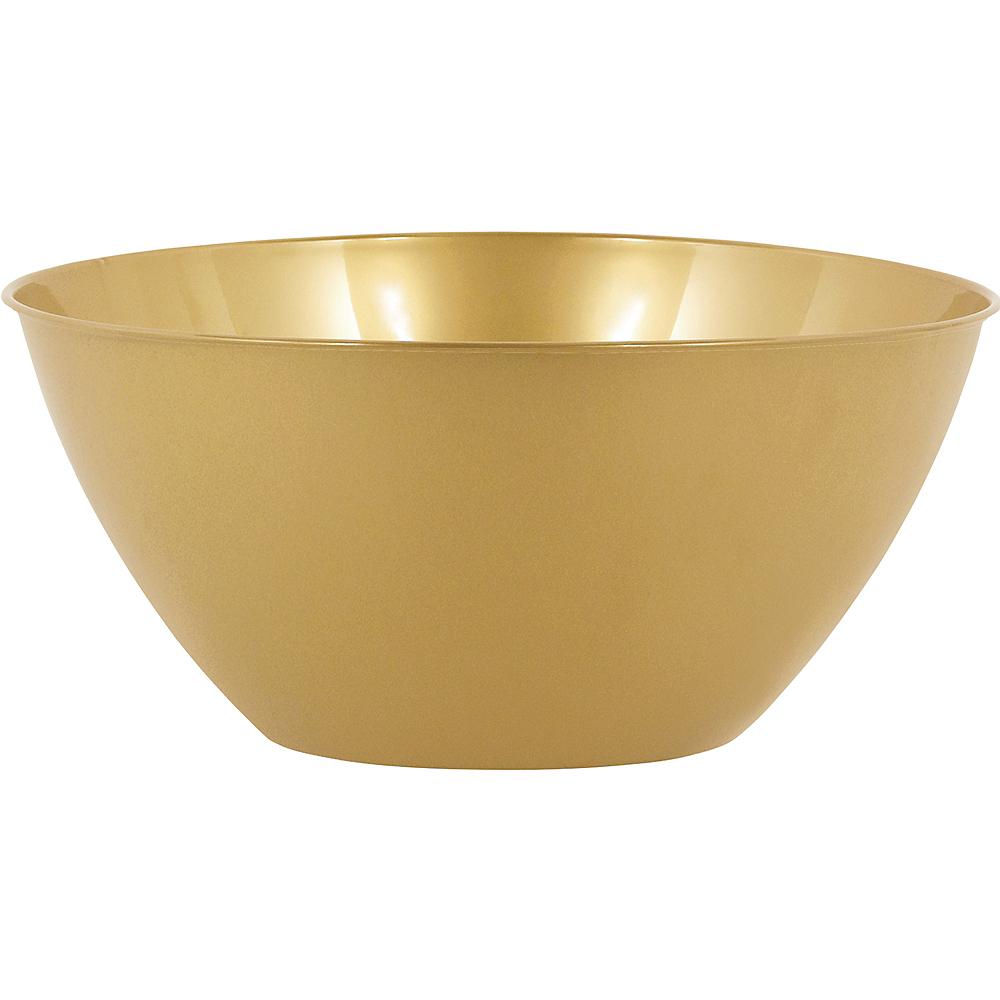 Large Gold Plastic Bowl Image #1