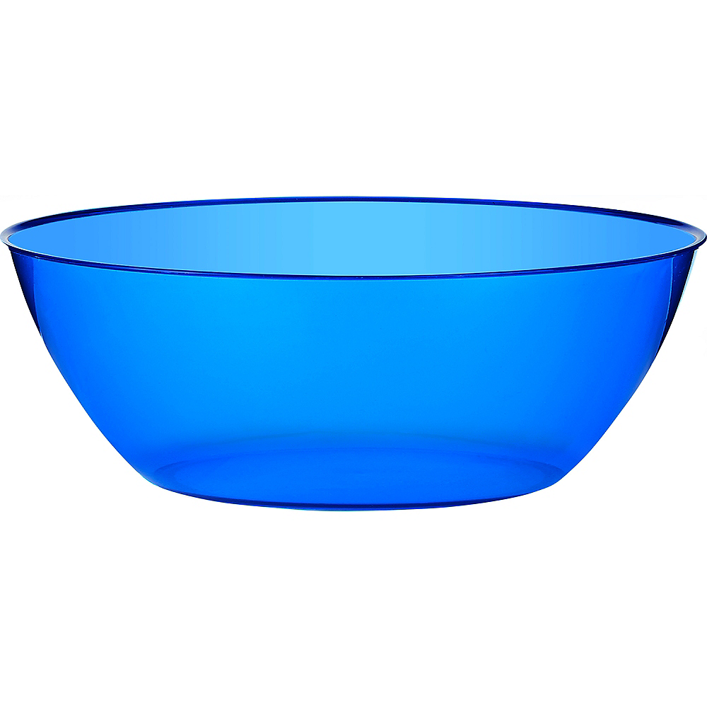 Royal Blue Plastic Serving Bowl Image #1