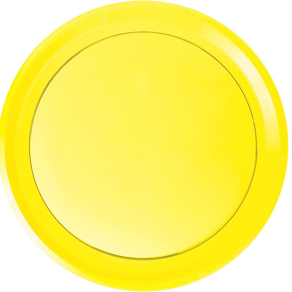 Yellow Plastic Round Platter Image #1
