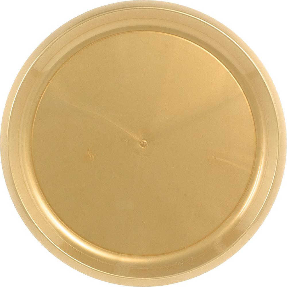 Gold Plastic Round Platter Image #1
