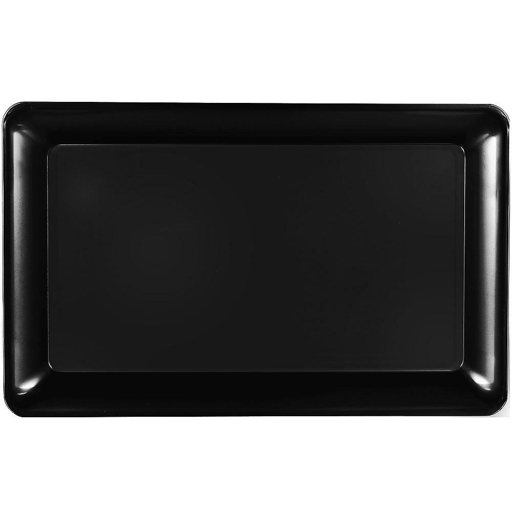 Nav Item for Black Plastic Rectangular Platter Image #1