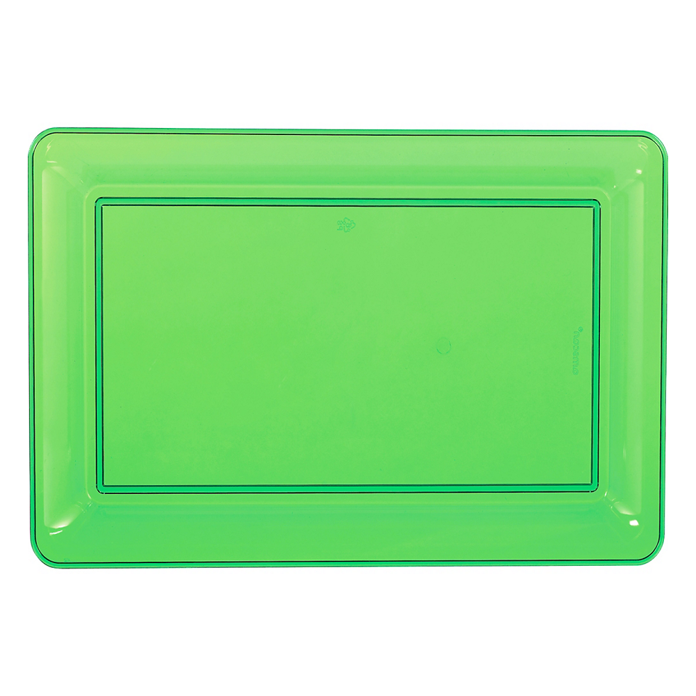 Nav Item for Kiwi Green Plastic Rectangular Platter Image #1