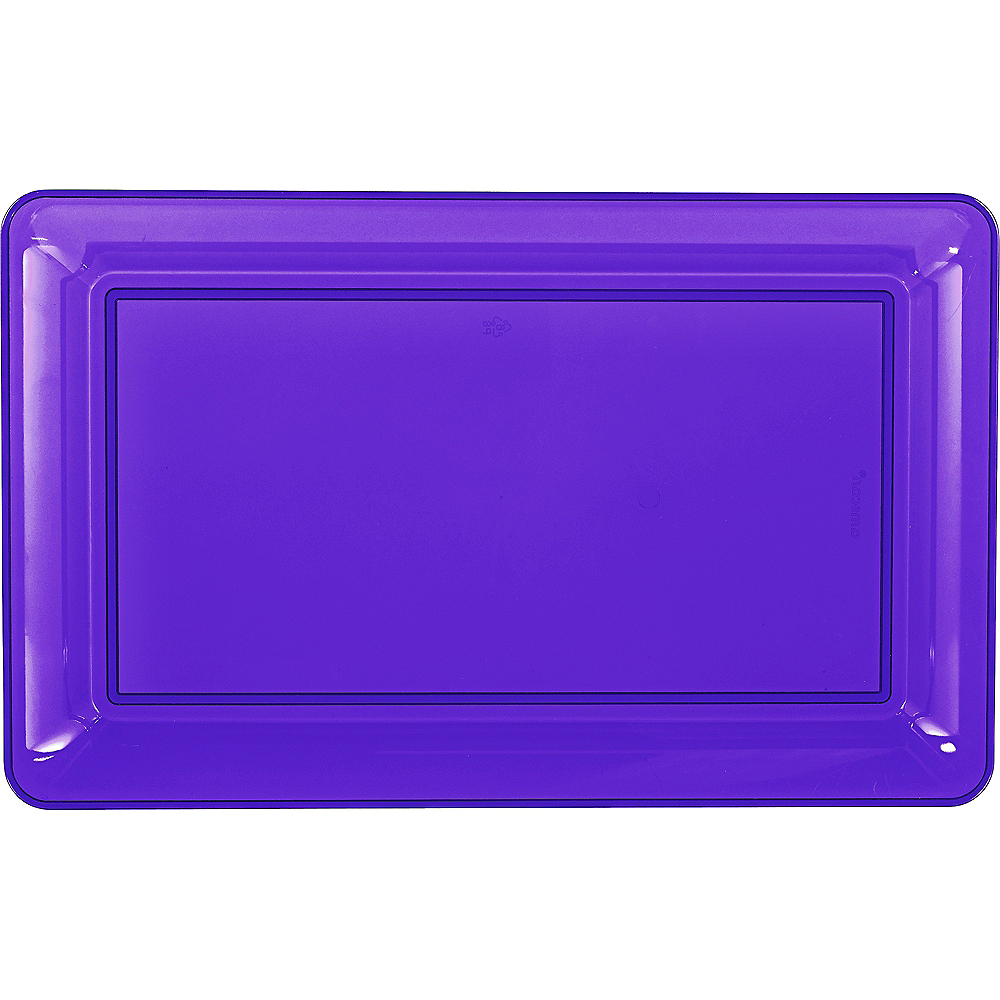 Purple Plastic Rectangular Platter Image #1