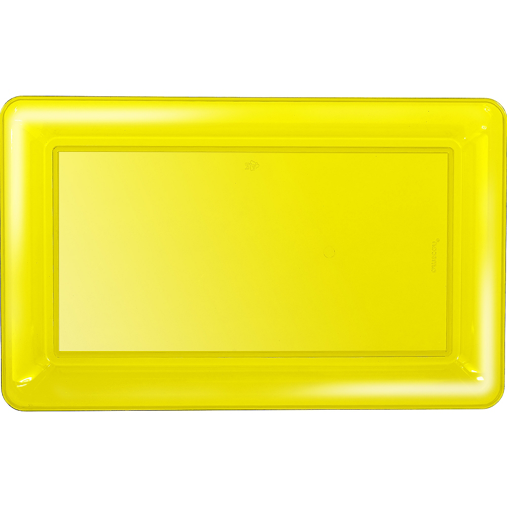 Yellow Plastic Rectangular Platter Image #1