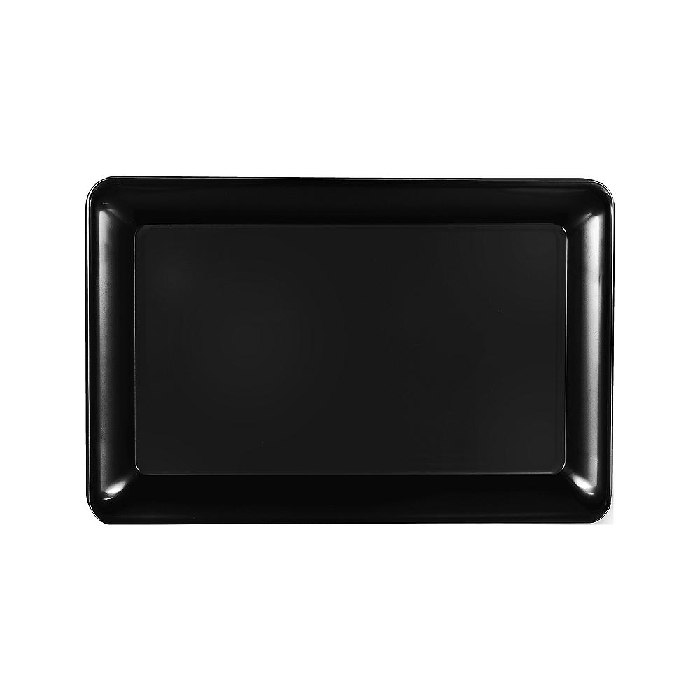 Medium Black Plastic Rectangular Platter Image #1