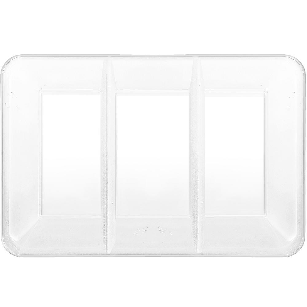 White Plastic Rectangular Sectional Platter Image #1