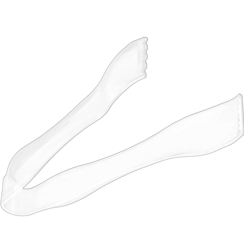 Mini White Plastic Tongs Image #1