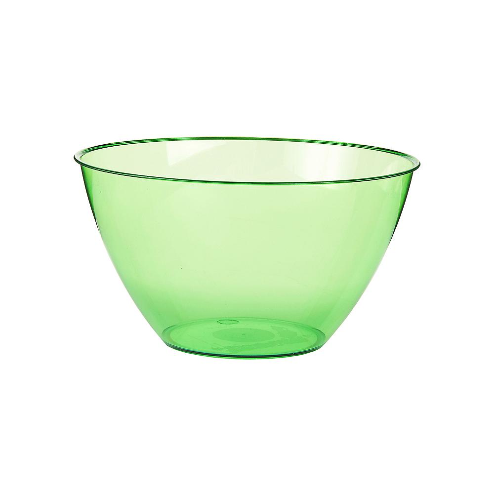 Small Kiwi Green Plastic Bowl Image #1