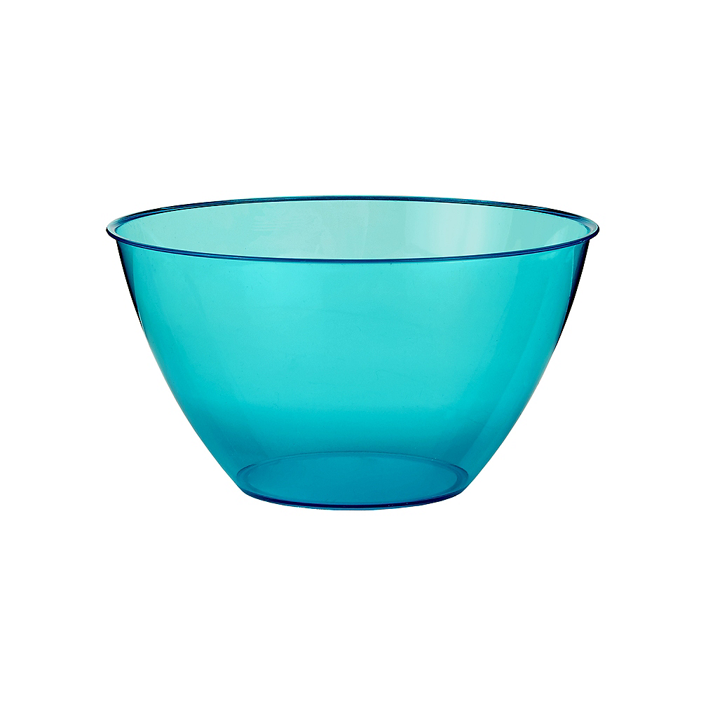 Small Caribbean Blue Plastic Bowl Image #1