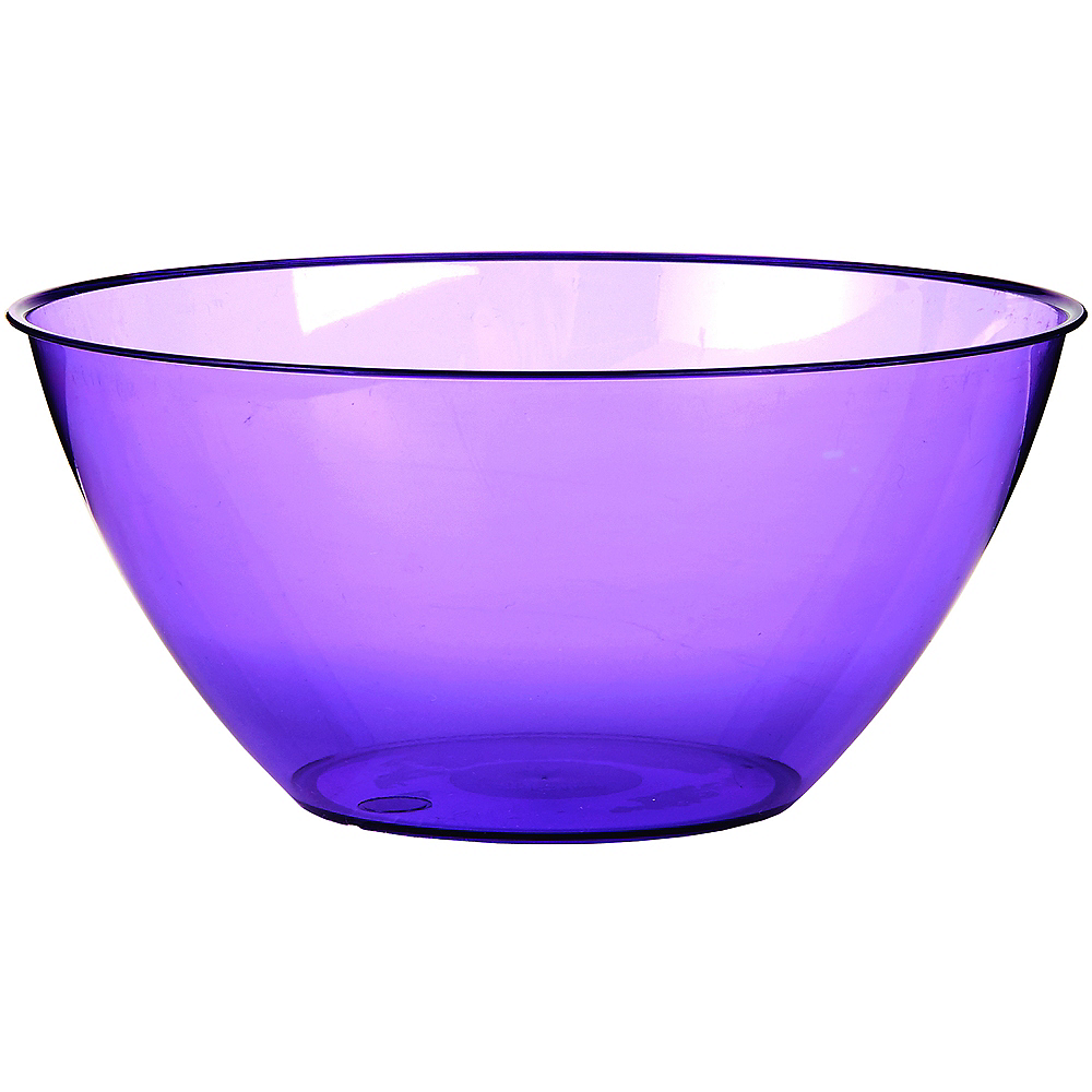 Large Purple Plastic Bowl Image #1