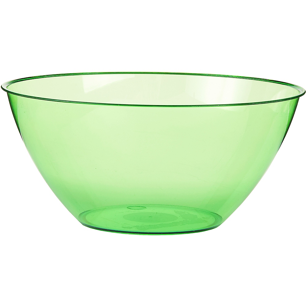 Large Kiwi Green Plastic Bowl Image #1