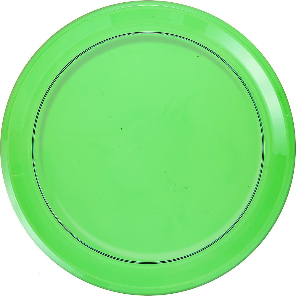 Kiwi Green Plastic Round Platter Image #1